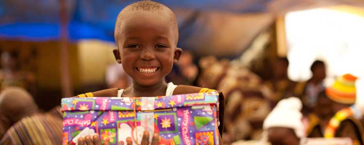 Hobby Lobby and Operation Christmas Child partnered to provide gifts for needy children.